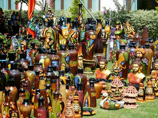 Variety of Indian pottery