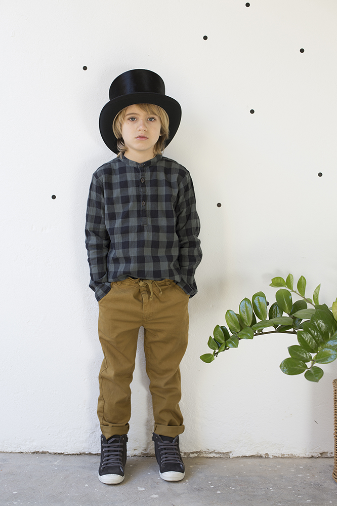 Buho Barcelona AW16 kidswear collection - boys' lumberjack