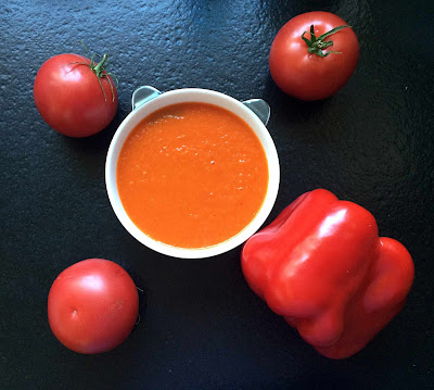 recipe for cream soup of roasted peppers and tomatoes