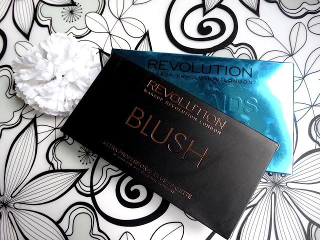 MakeUp Revolution palety Ultra Blush i Ultra Eyeshadows