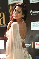 Prajna Actress in backless Cream Choli and transparent saree at IIFA Utsavam Awards 2017 0104.JPG