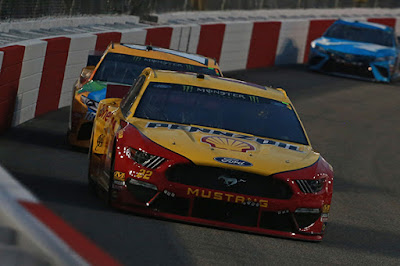 A total of six Ford Mustangs finished in the top-10 of the race, led by Stage 2 winner, Joey Logano in P2.