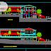 مخطط فندق درجة سياحية بالهياكل المعدنية اوتوكاد dwg