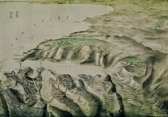 Рельефная карта Севастополя