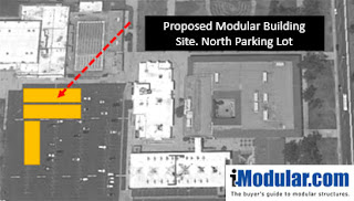 Site planning for modular building or portable classroom