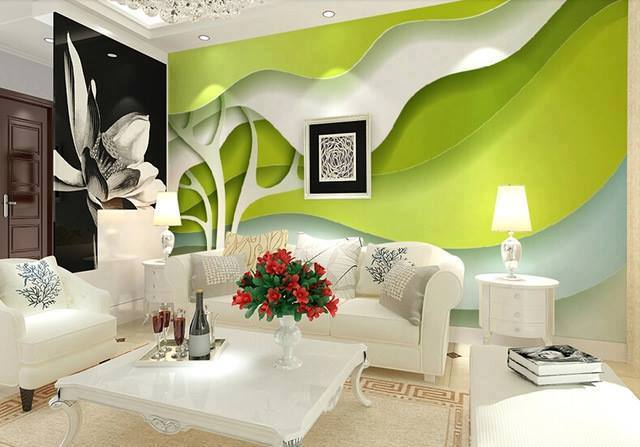 Floral feminine living room design ideas