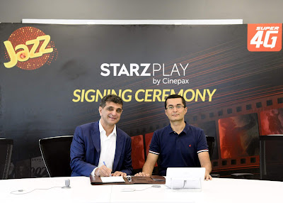 Jazz Becomes STARZPLAY By Cinepax Exclusive Telecom Partner