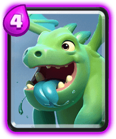 Carta Dragão Bebê (Baby Dragon) de Clash Royale - Cards Wiki