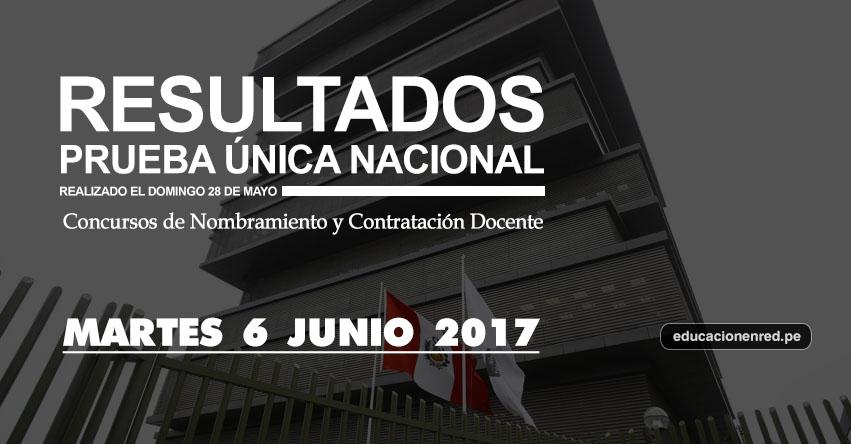 MINEDU: Resultados Prueba Única Nacional para Nombramiento Docente y Contrato Docente se publicarán hoy Martes 6 de Junio 2017, según Cronograma - www.minedu.gob.pe