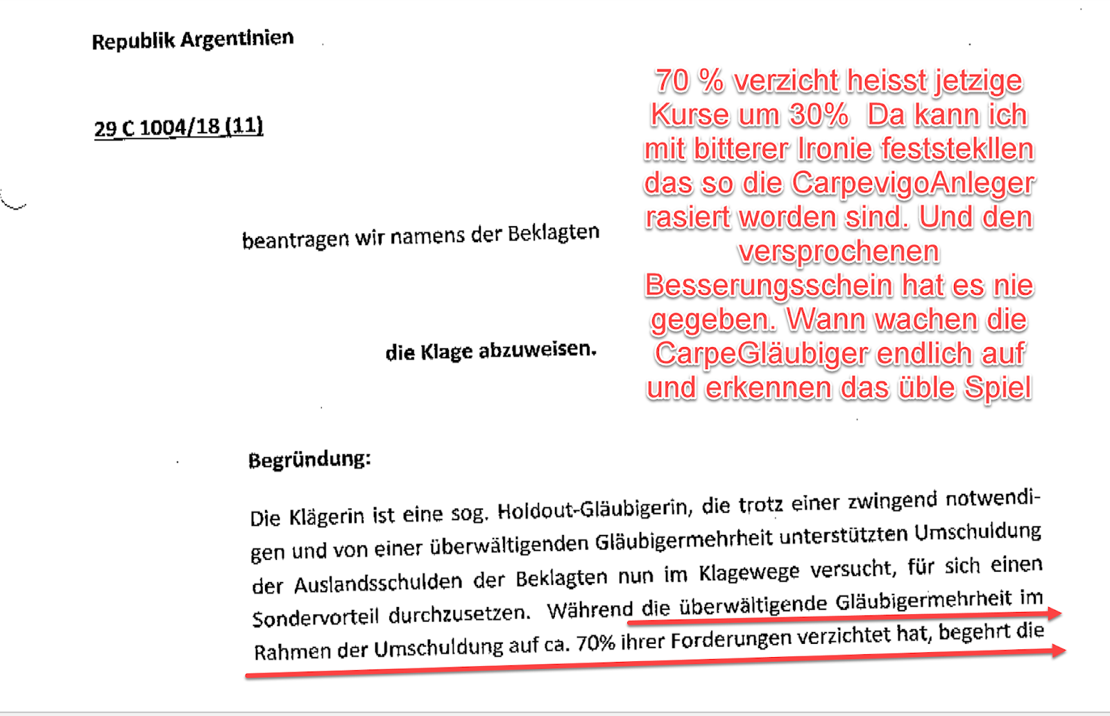 rolf´s Carpevigo Blog: 70 % verzicht heisst jetzige Kurse um 30% Da ...