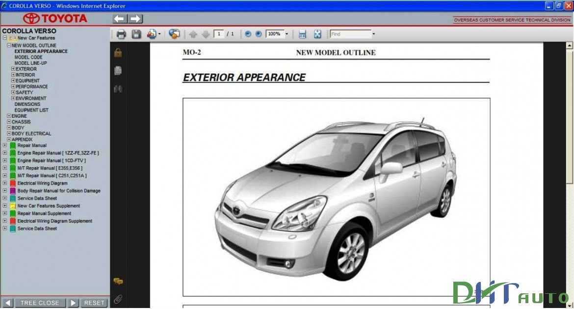 k s t toyota corolla verso 2004 2005 2006 2007 2008 2009 rh dongchulle blogspot com 2000 Toyota Echo Repair Manual 2004 toyota echo parts manual