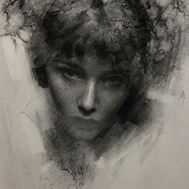10-Casey-Baugh-Expressive-Charcoal-Portrait-Drawings-www-designstack-co