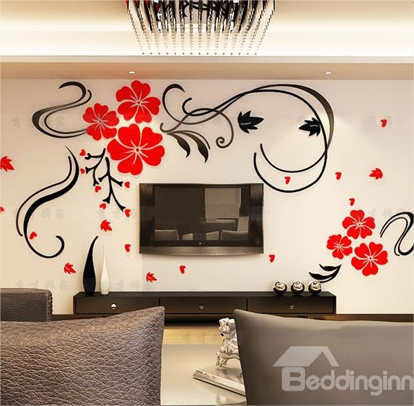 High Quality I Must Admit My Favorite Type Of Wall Stickers Are 3d Floral Wall Stickers.  I Have Flower Wall Sticker On My Fridge And My Whole Kitchen! Part 10