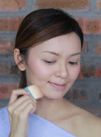 With Benefit Hoola Light Bronzer, I'm gonna apply it on side of my nose, hallow of my  cheek and my   'big' jawline.