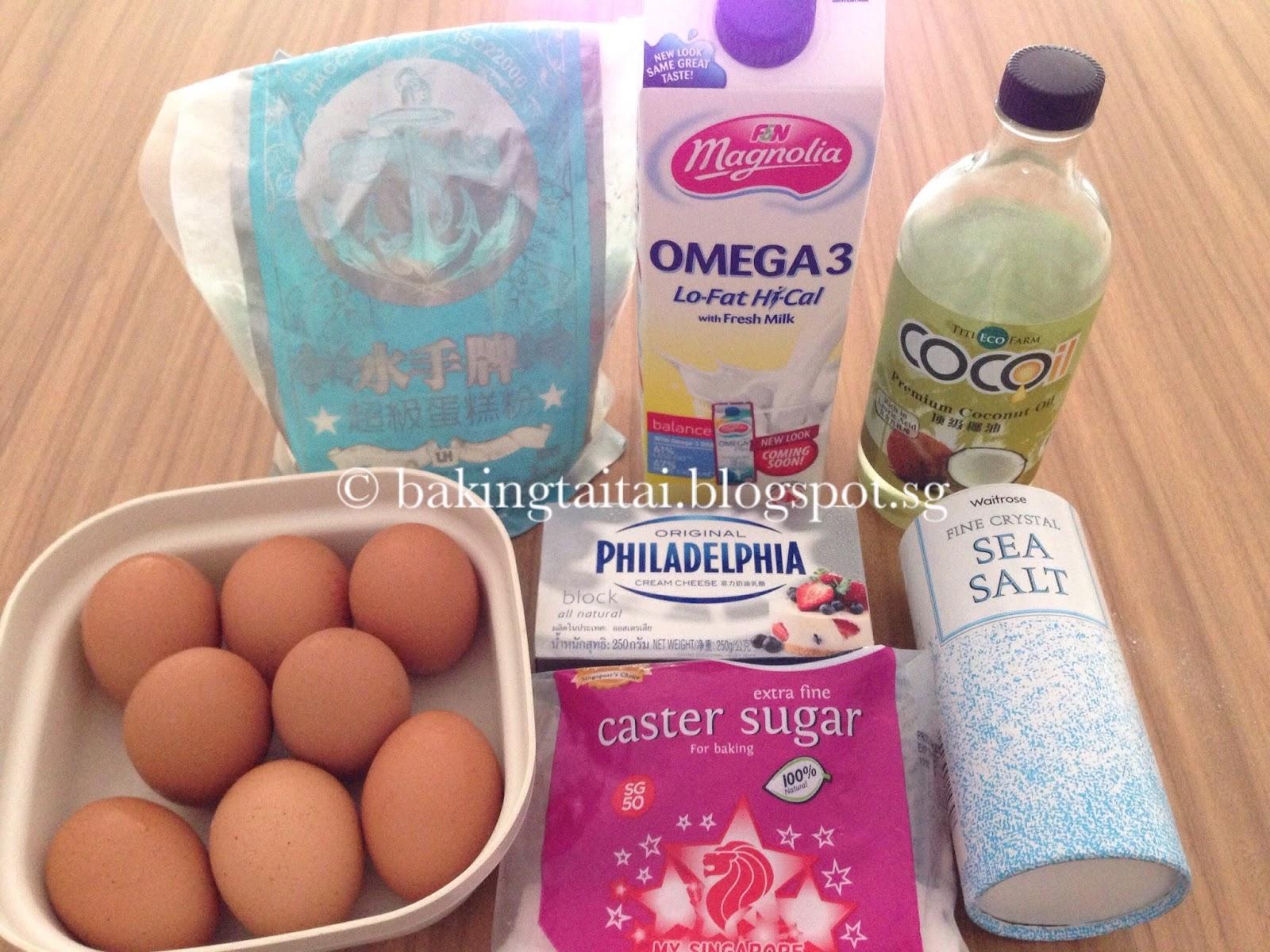 Baking Taitai Japanese Cream Cheese Chiffon Cake Premium Blueberry 20cm 50g Caster Sugar