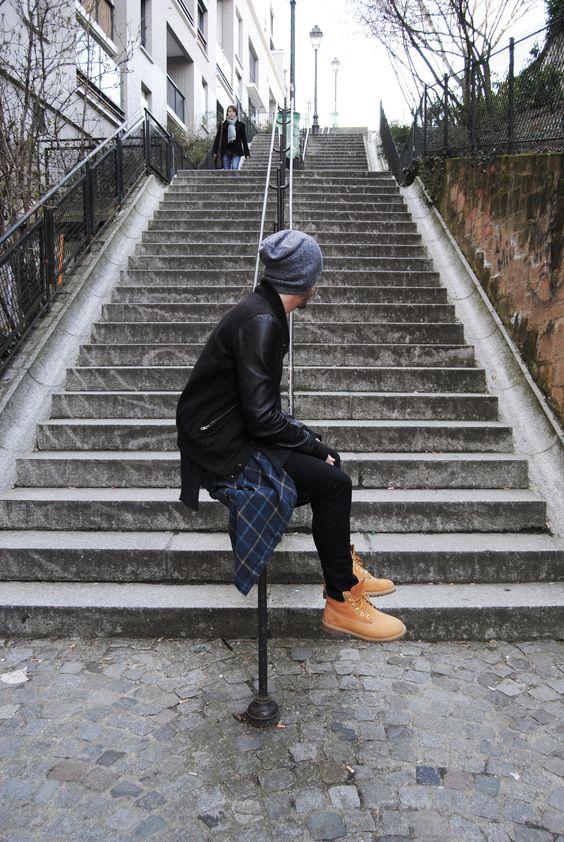 Look Masculino com Botas amarella yellow boots