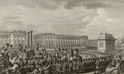 Engraving of the Execution of Louis XVI by  Isidore-Stanislas Helman, 1794