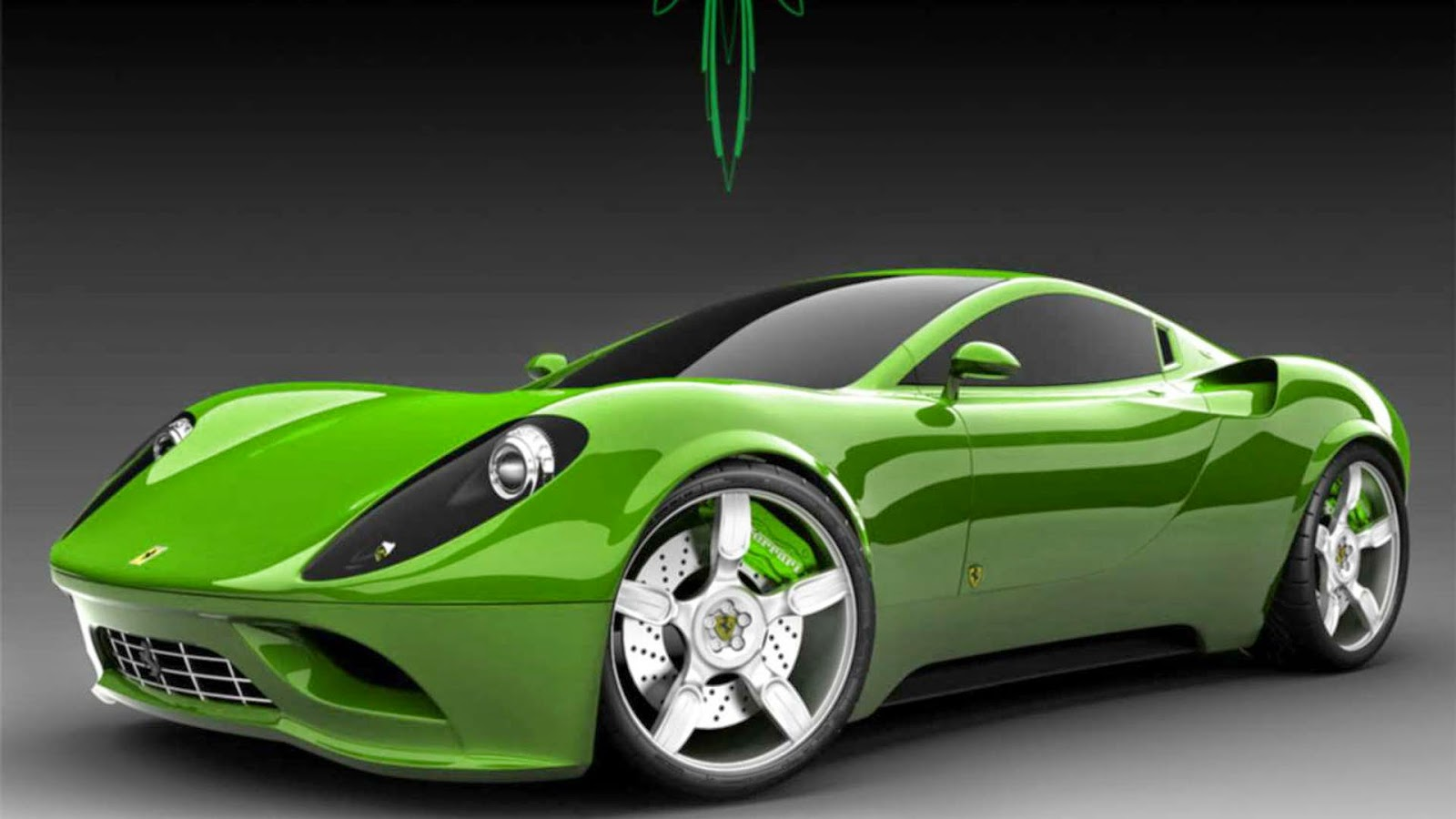 High Resolution 3d Wallpaper Green Ferrari Full Hd Wallpaper Galery Car Wallpaper
