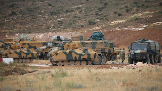 Turkish forces set up positions in Idlib