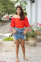 Rhea Chakraborty in Red Crop Top and Denim Shorts Spicy Pics ~  Exclusive 157.JPG