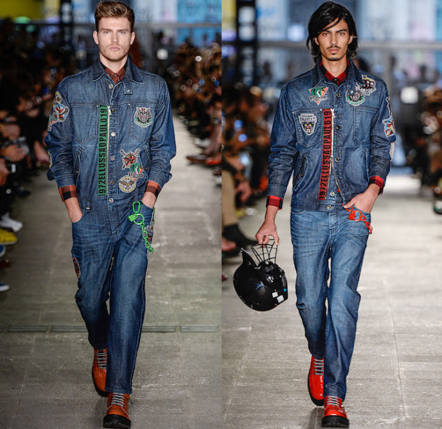 looks masculinos com patches na jaqueta