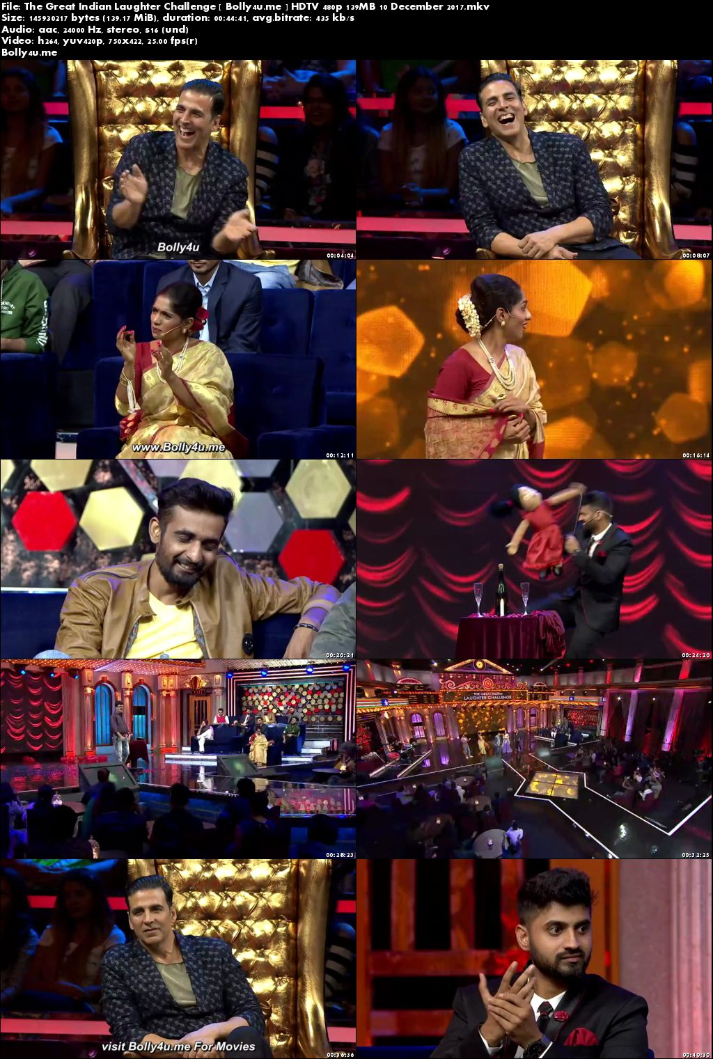 The Great Indian Laughter Challenge HDTV 480p 140MB 10 Dec 2017 Download