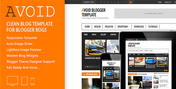 Download Free Avoid Blogger Template