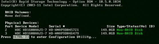 RAID Intel S1200V3RPS - Passo 1