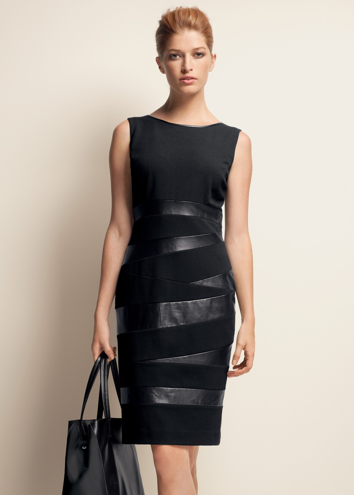 Diary of a Sewing Fanatic: Ponte & Faux Leather Dress