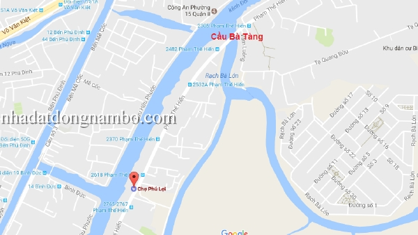 Bán nhà cấp 4 đường Phạm Thế Hiển phường 7 quận 8