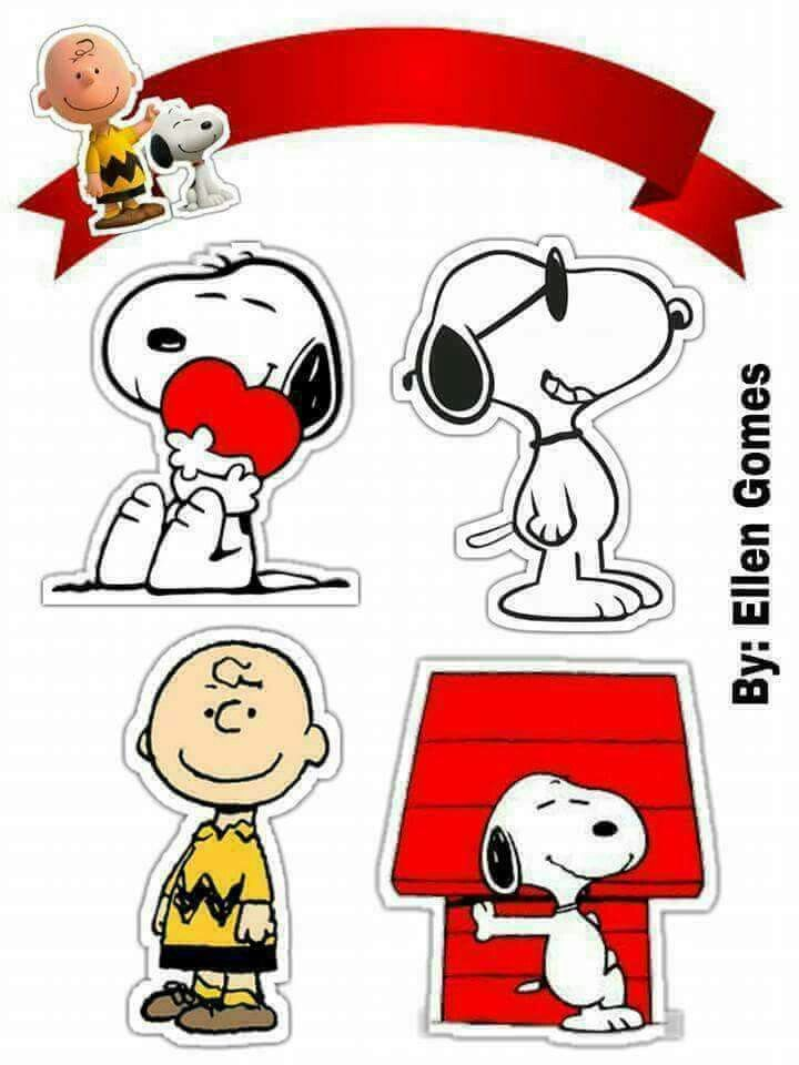 Peanuts Charly Brown And Snoopy Free Printable Cake