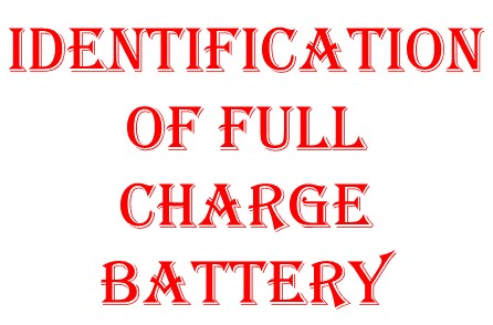 Identification of full charge battery