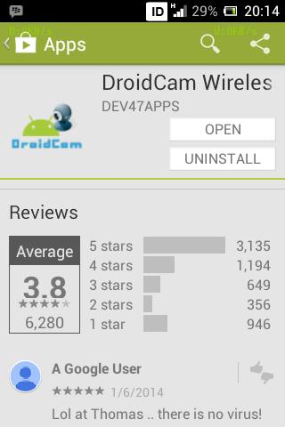 Hp Android sebagai webcam dengan DROIDCAM