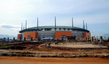 Suasana stadion Pakansari