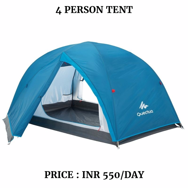 4 person tent for rent in Dharamshala