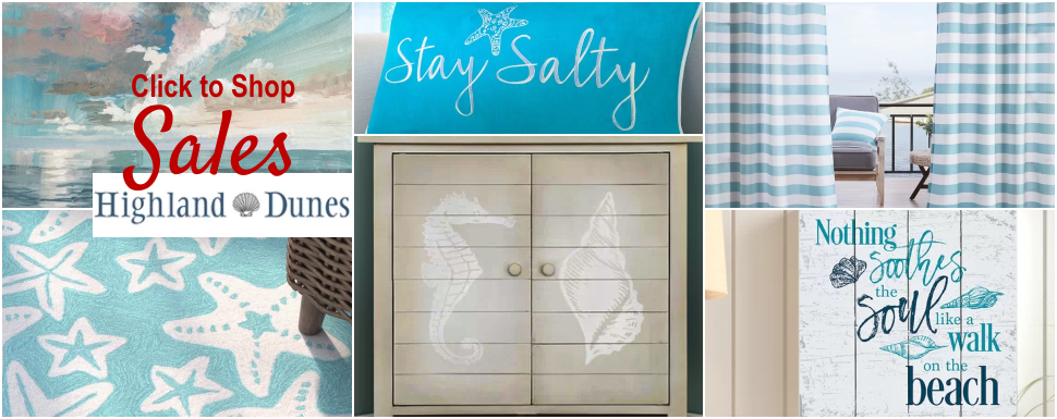 Coastal Decor Sales at Highland Dunes