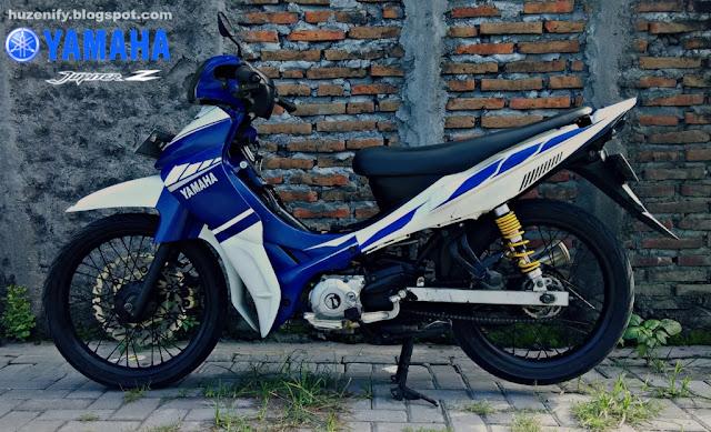 modifikasi jupiter z striping ala yamaha motogp