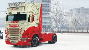 Extreme Wheels skin for Scania RJL