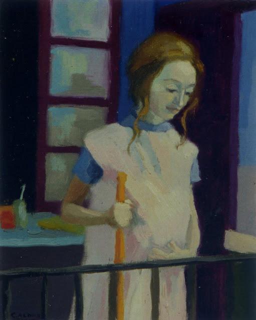 Cristina Alonso mujer embarazada maternidad pintura impresionista