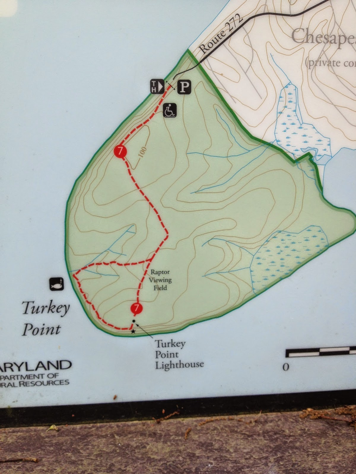 map of Lighthouse Trail at Turkey Point