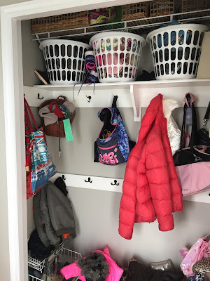Messy hall closet