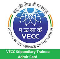 VECC Stipendiary Trainee Admit Card
