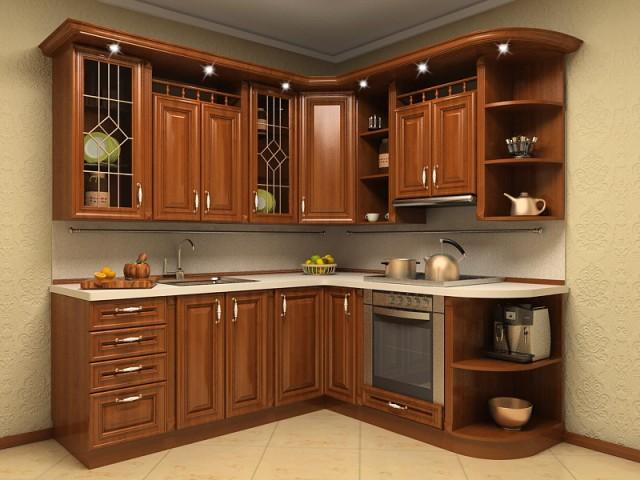 Кухня черное дерево