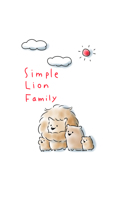 simple Lion family.