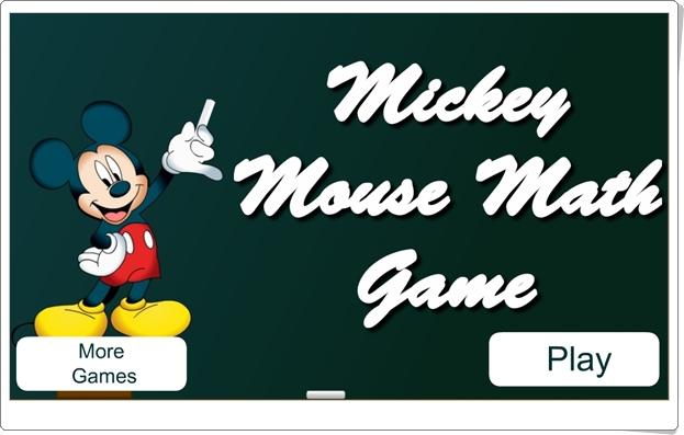 """""""Mickey Mouse Math Game"""" (Juego de Suma de Primaria)"""