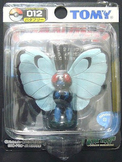 Butterfree Pokemon figure Tomy Monster Collection black package series