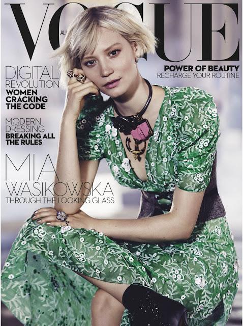 Actress, @ Mia Wasikowska - Vogue Australia, July 2016