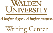 Walden University Writing Center logo