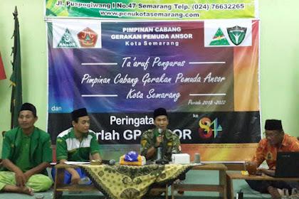 Ansor Kota Semarang Lebih Muda, Fresh dan Lincah