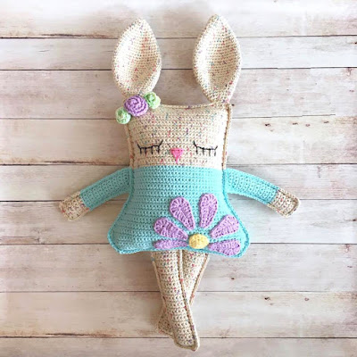 crochet pattern of little bunny pdf ternura amigurumi english ... | 400x400